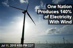 One Nation Produces 140% of Electricity With Wind