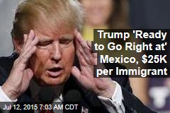 Trump 'Ready to Go Right at' Mexico, $25K per Immigrant