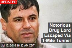 Notorious Drug Lord Escaped Via 1-Mile Tunnel