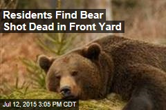 Residents Find Bear Shot Dead in Front Yard