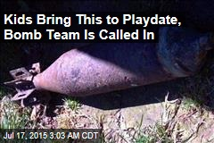 Kids Bring Mortar Shell to Playdate