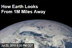 How Earth Looks From 1M Miles Away