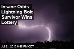 Lightning Bolt Survivor Wins Lottery