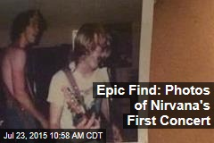 Epic Find: Photos From Nirvana's First Concert