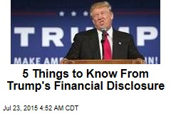 5 Things to Know From Trump's Financial Disclosure