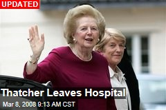 Thatcher Leaves Hospital