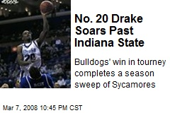 No. 20 Drake Soars Past Indiana State