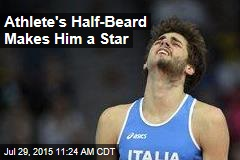 Athlete's Half-Beard Makes Him a Star