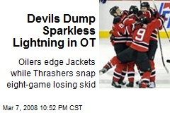 Devils Dump Sparkless Lightning in OT