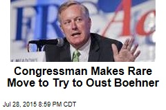 Congressman Makes Rare Move to Try to Oust Boehner