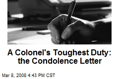 A Colonel's Toughest Duty: the Condolence Letter