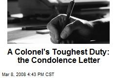 A Colonel's Toughest Duty: the Condolence Letter