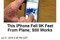 This iPhone Fell 9K Feet From Plane, Still Works