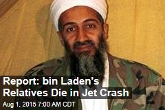 Report: bin Laden's Relatives Die in Jet Crash