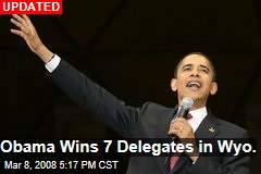 Obama Wins 7 Delegates in Wyo.
