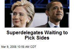 Superdelegates Waiting to Pick Sides