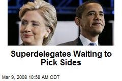 Superdelegates Waiting to Pick Sides