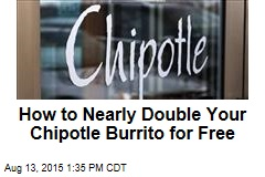 How to Nearly Double Your Chipotle Burrito for Free