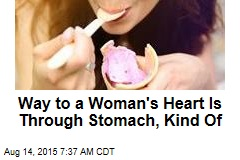Way to a Woman's Heart Is Through Stomach, Kind Of