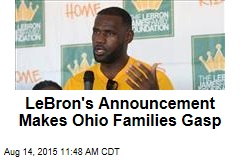 LeBron's Announcement Makes Ohio Families Gasp