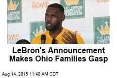 LeBron's Announcement Makes Ohio Families Gasp