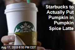 Starbucks to Actually Put Pumpkin in Pumpkin Space Latte
