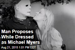 Man Proposes While Dressed as Michael Myers