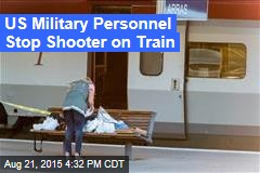US Military Personnel Stop Shooter on Train