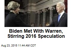 Biden Met With Warren, Stirring 2016 Speculation