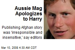 Aussie Mag Apologizes to Harry