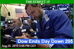 Dow Ends Day Down 204