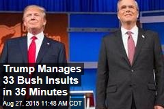 Trump Manages 33 Bush Insults in 35 Minutes