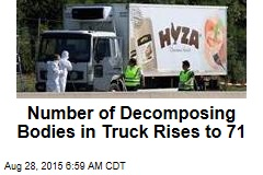 Number of Decomposing Bodies in Truck Rises to 71
