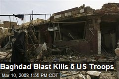 Baghdad Blast Kills 5 US Troops
