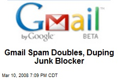 Gmail Spam Doubles, Duping Junk Blocker