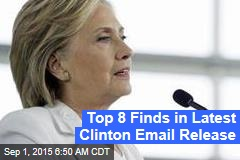 Top 8 Finds in Latest Clinton Email Release
