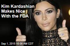 Kim Kardashian Makes Nice With the FDA