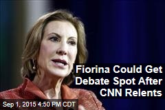 Fiorina Could Get Debate Spot After CNN Relents