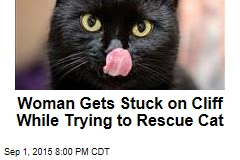Woman Gets Stuck on Cliff While Trying to Rescue Cat