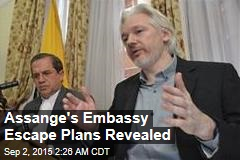 Assange's Embassy Escape Plans Revealed