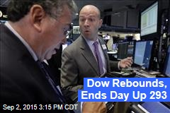 Dow Rebounds, Ends Day Up 293