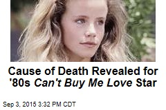 Cause of Death Revealed for '80s Can't Buy Me Love Star