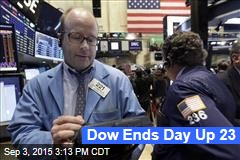 Dow Ends Day Up 23
