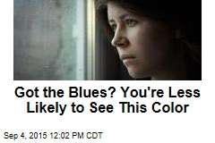 Got the Blues? You're Less Likely to See This Color