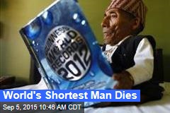World's Shortest Man Dies