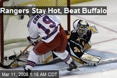 Rangers Stay Hot, Beat Buffalo