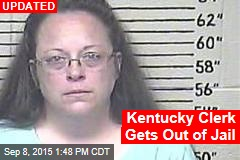 Kentucky Clerk Getting Out of Jail
