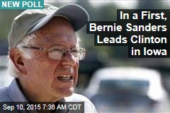 In a First, Bernie Sanders Leads Clinton in Iowa