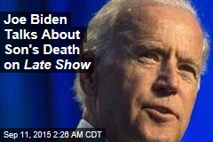 Joe Biden Opens Up on Late Show