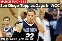 San Diego Topples Zags in WCC